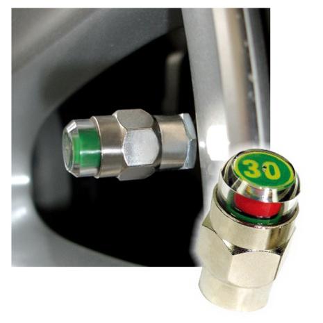 安伯特胎壓偵測氣嘴蓋30psi(一組2入)贈防竊扳手