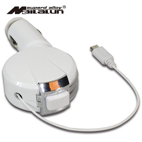 【加價購】MAILALUN 伸縮Micro USB(1.2A)車充充電器-相機.消費電子.汽機車-myfone購物