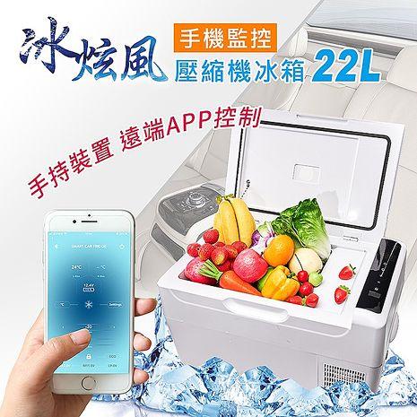 【冰炫風】手機APP控溫 壓縮機 行動冰箱 (贈變壓器) 車用 車載 露營 保鮮 冷凍 車家兩用 低溫可達-20度