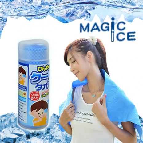 【Magic Ice】舒爽沁涼冰巾/冰涼巾 小(淺藍)