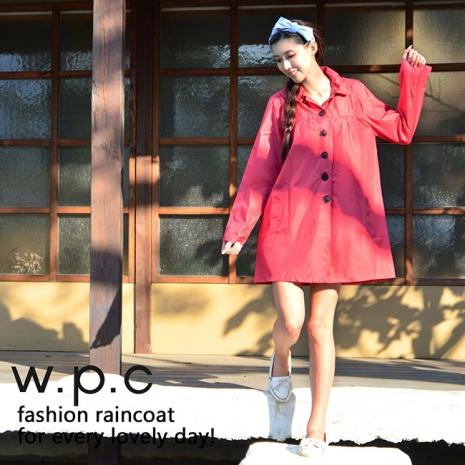 【w.p.c.】baby style。時尚雨衣/風衣(R1002) 桃紅