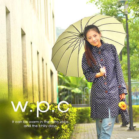 【w.p.c.】甜美水玉款。時尚雨衣/風衣(R1012) 黑色