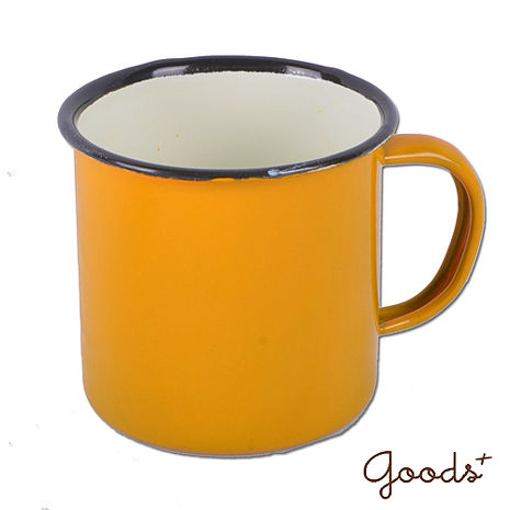 【goods+】復古琺瑯 經典素色咖啡7號杯_EC02(黃)