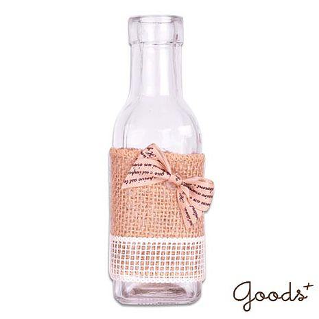 【goods+】午後時光 唯美麻繩玻璃瓶/花瓶/置物瓶/擺飾瓶 (小方瓶)_GV08