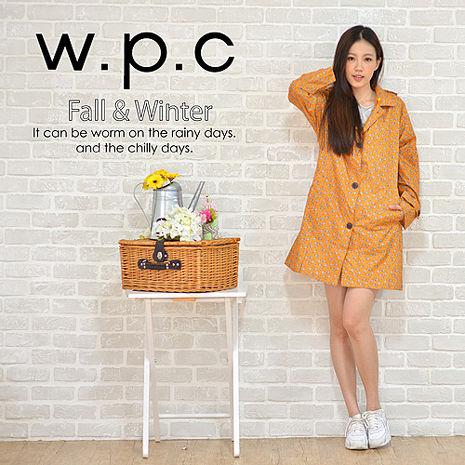 【w.p.c.】雛菊釦子款。時尚雨衣/風衣(R1041)_橘色