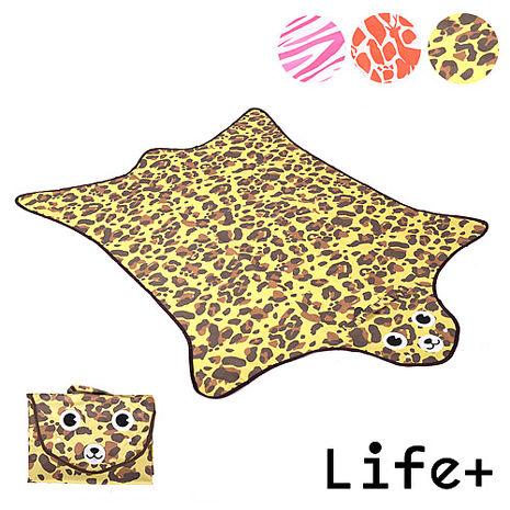 【Life Plus】動物叢林 造型野餐墊/遊戲墊 (褐色 豹紋)