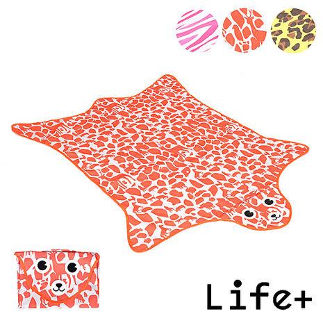 【Life Plus】動物叢林 造型野餐墊/遊戲墊 (橘色 鹿紋)