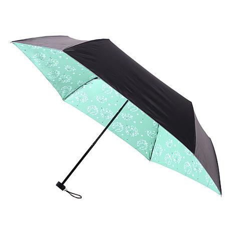 【2mm】100遮光 蒲公英黑膠輕量手開傘(粉綠)