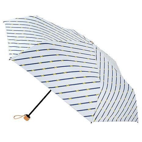 【2mm】100遮光 斜紋蝴蝶結黑膠輕量手開傘(白色)