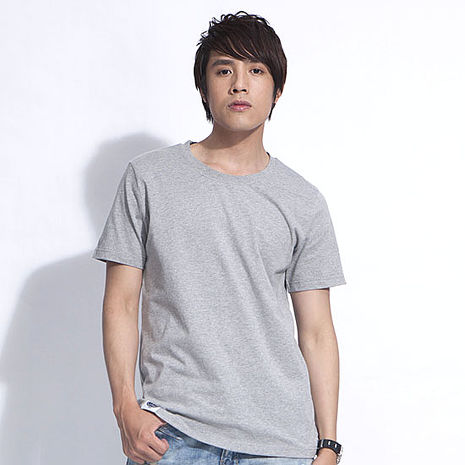 【SHAPA】素色短TEE_男_麻灰-服飾‧鞋包‧內著‧手錶-myfone購物