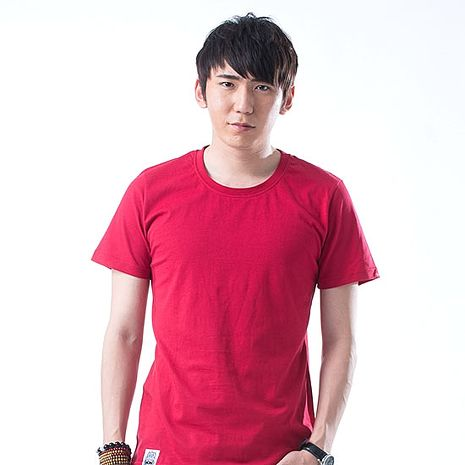 【SHAPA】素色短TEE_男_酒紅-服飾‧鞋包‧內著‧手錶-myfone購物