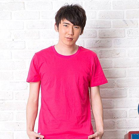 【SHAPA】素色短TEE_男_桃紅-服飾‧鞋包‧內著‧手錶-myfone購物