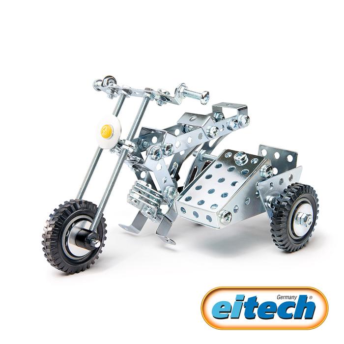 【德國eitech】益智鋼鐵玩具-三輪重型機車 (C85)