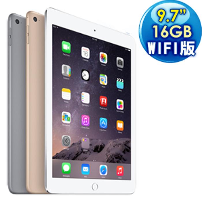 蘋果 Apple iPad Air 2 16GB WiFi (黑色) 台灣公司貨(贈觸控筆)