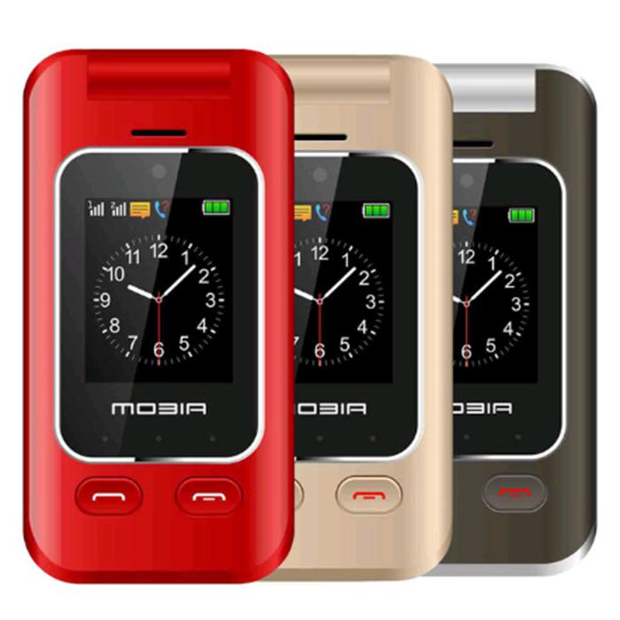 【摩比亞 MOBIA】M800 3G折疊雙螢幕雙卡機(全配附座充)紅色