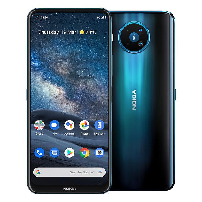 NOKIA 8.3 5G (8G/128G) 蔡司光學四攝極速雙卡劇院級手機(藍色)