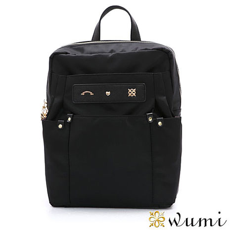 WuMi 無米 伊妮輕盈尼龍後背包 時尚黑