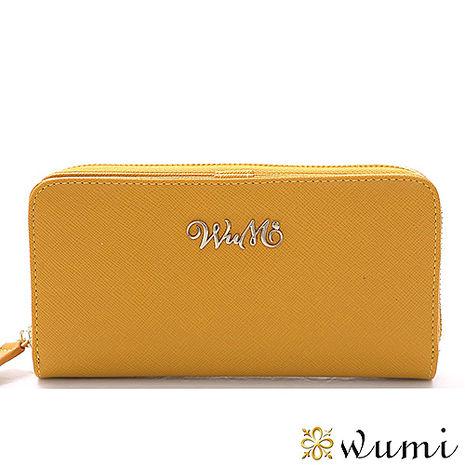 WuMi 無米 桃瑞絲十字紋雙用長夾 橡木黃
