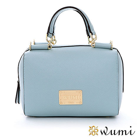 WuMi 無米 Mini輕巧十字紋赫蒂包 微風藍