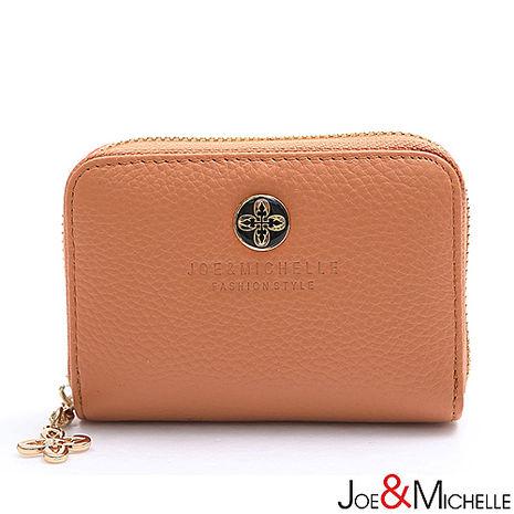 JOE&MICHELLE 真皮漾彩甜心多層卡夾包 煙燻粉-服飾‧鞋包‧內著‧手錶-myfone購物