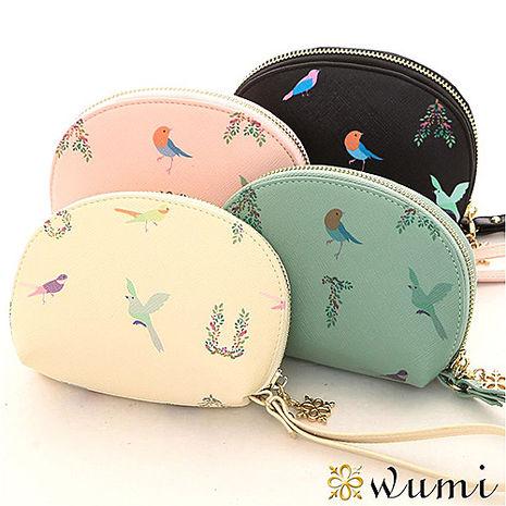 WuMi 無米 娜塔莎貝殼手拿零錢包 共四色優格粉