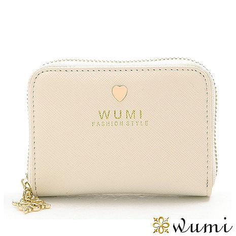 WuMi 無米 蜜拉十字紋卡夾包 典雅白