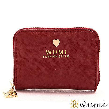 WuMi 無米 蜜拉十字紋卡夾包 草莓紅