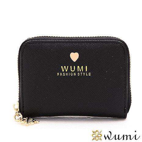 WuMi 無米 蜜拉十字紋卡夾包 赫本黑