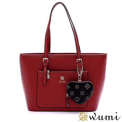 WuMi 無米 布萊妮十字紋甜心掛飾托特包 共4色