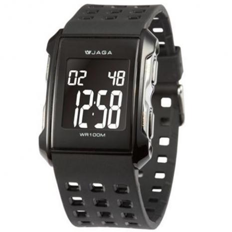 JAGA 捷卡 M807-A 多功能防水100米運動電子錶(黑色)