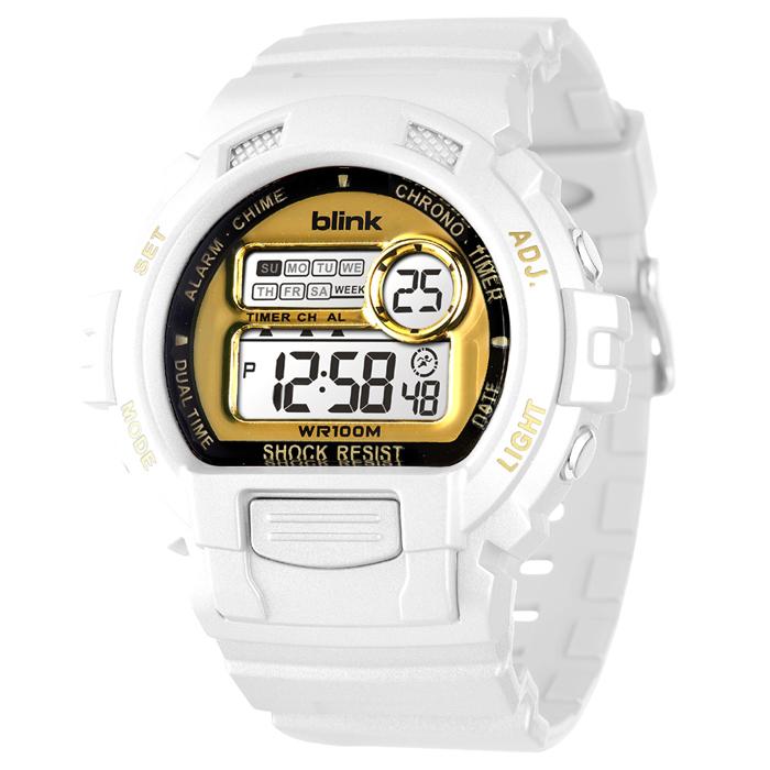 JAGA 捷卡 blink M886-DL 陽光炫麗多功能運動電子錶-白金