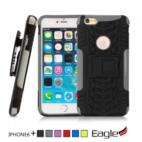 【Eagle 美國鷹】iPhone 6/6s Plus Holster Track 滑槍套雙層保護殼(6色)