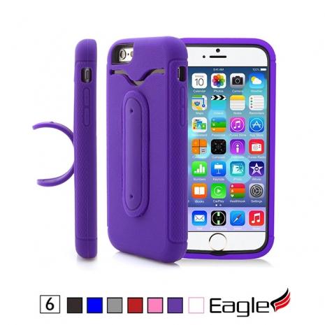 【Eagle 美國鷹】iPhone 6/6s Rugged Snap Hybrid 支架雙層保護殼(7色)