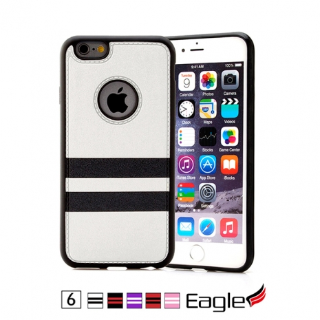 【Eagle 美國鷹】iPhone 6/6s Colored Striped 雙材質條紋保護殼(5色)