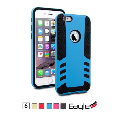 【Eagle 美國鷹】iPhone 6/6s Tough Hybrid 雙層避震保護殼(5色)金色/黑色