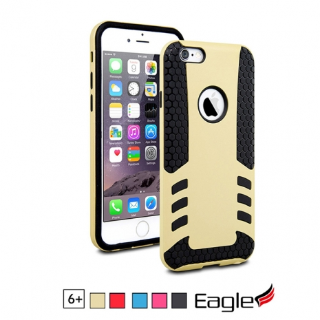 【Eagle 美國鷹】iPhone 6/6s Plus Tough Hybrid 雙層避震保護殼(5色)紅色/黑色