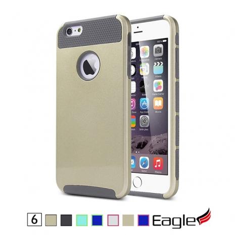【Eagle 美國鷹】iPhone 6 Hybrid Slim Armor 雙層防滑保護殼(7色)綠色/藍色