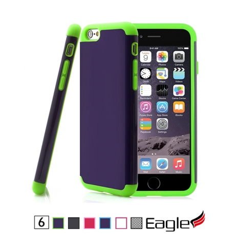 【Eagle 美國鷹】iPhone 6/6s Hybrid Impact Armor 雙層鏡面保護殼(6色)白色/粉紅