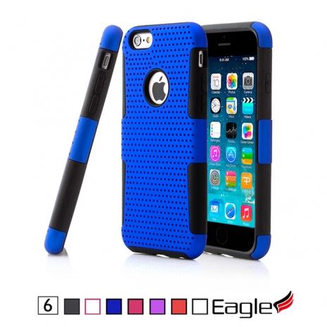 【Eagle 美國鷹】iPhone 6 Mesh Hybrid 網狀雙層保護殼(7色)白色/粉紅