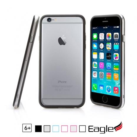 【Eagle 美國鷹】iPhone 6/6s Plus Two-Tone Bumper 雙色邊框保護殼(6色)白色/粉紅邊