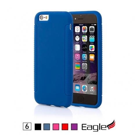 【Eagle 美國鷹】iPhone 6/6s Rubber Grip 防滑矽膠軟套(5色)紫色