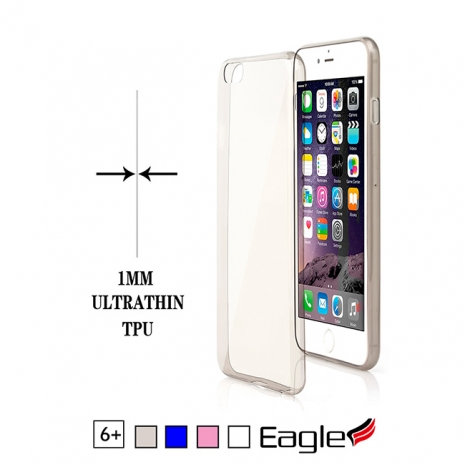 【Eagle 美國鷹】iPhone 6/6s Plus Ultra Slim 極薄TPU軟套(4色)藍色
