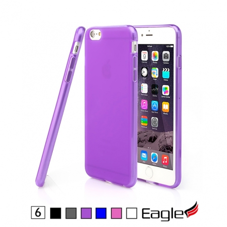 【Eagle 美國鷹】iPhone 6/6s Frost Slim 極薄磨沙TPU軟套(6色)透明藍