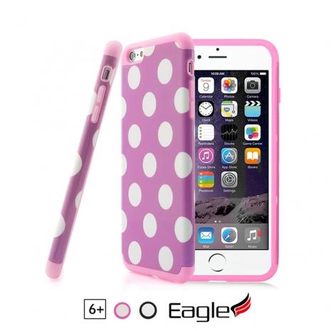 【Eagle 美國鷹】iPhone 6/6s Plus Hybrid Impact Armor 雙層水玉鏡面保護殼(2色)黑色