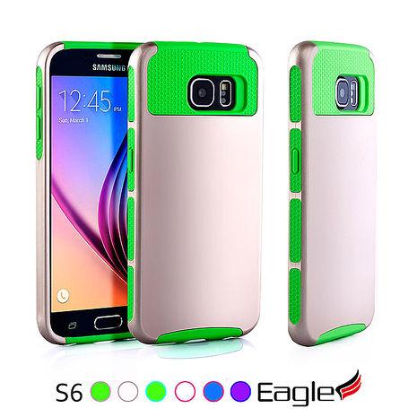 【Eagle 美國鷹】Samsung Galaxy S6 Hybrid Slim Armor 雙層防滑保護殼(6色)淺紫/粉紅