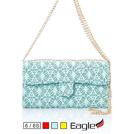 【Eagle 美國鷹】iPhone 6s/6 Chain Flip Wallet 金鍊磁扣皮套(3色)金色