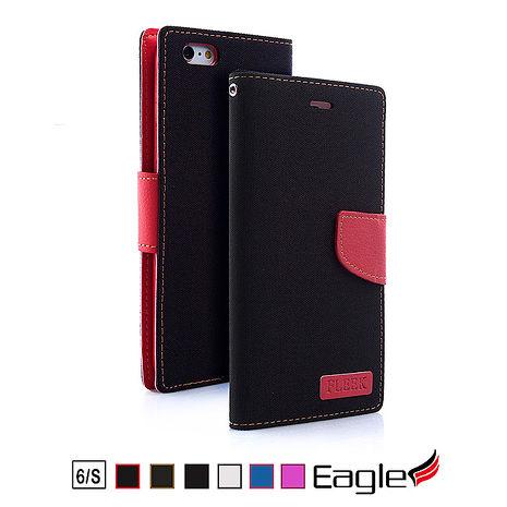 【Eagle 美國鷹】iPhone 6s/6 Denim Wallet 單寧掀蓋磁扣皮套(6色)粉紅