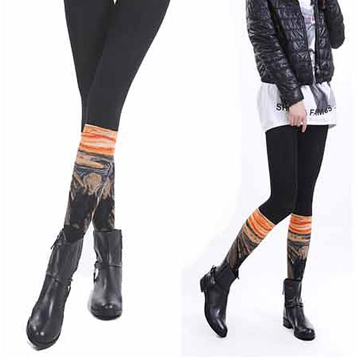 【JHJ DESIGN】孟克-吶喊-The Scream 褲襪(加拿大品牌 MIT)