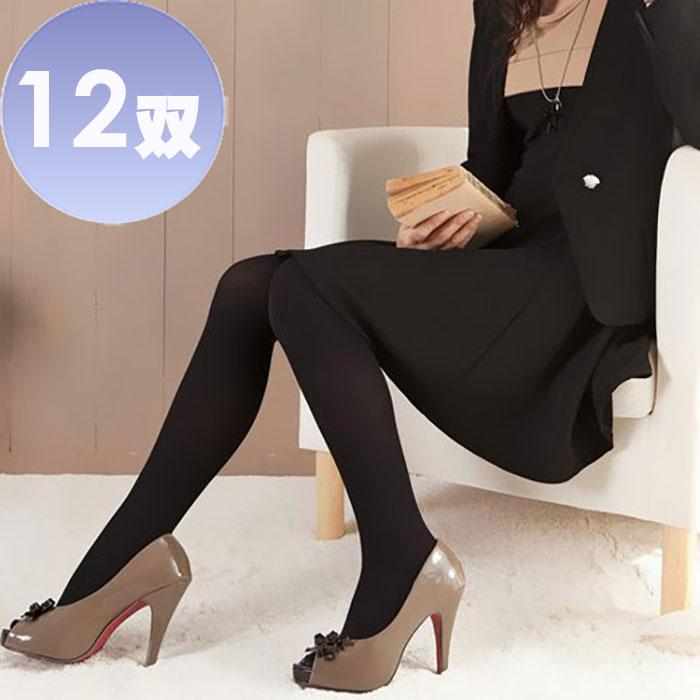 華貴 LL加大尺碼型90丹尼棉絨保暖褲襪-12雙(MIT)