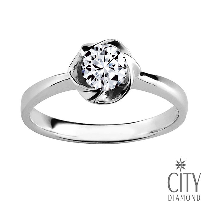 City Diamond『冬柏花語』50分鑽石戒指/求婚戒指/鑽戒(預購)